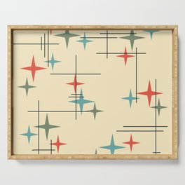 Mid Century Modern Stars Colorful 1 Serving Tray