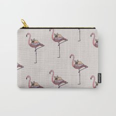 Flamingo and French Bulldog Carry-All Pouch