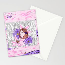 Clematis and Aster Stationery Cards