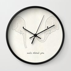 Nuts About You Wall Clock
