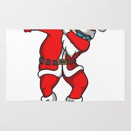 Santa Funny Christmas Rug