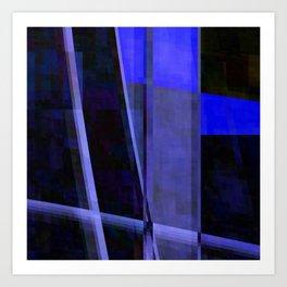 wonder blu 1 Art Print