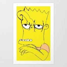 "Bart ""The Tracy Ullman Show"" Simpson Art Print"