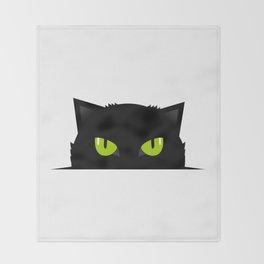Black cat follow you #society6 #decor #buyart #artprint Throw Blanket