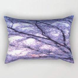 Periwinkle Lavender Flower Tree Rectangular Pillow