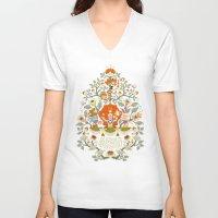 alice wonderland V-neck T-shirts featuring Wonderland by rosekipik