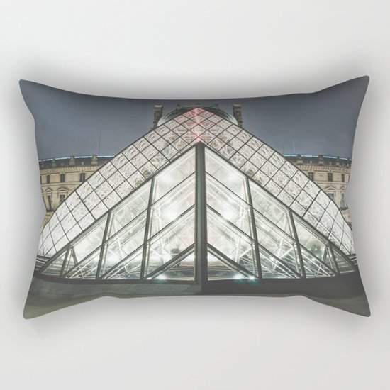 Paris pyramide Louvre 2 Rectangular Pillow