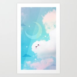 Happy Cloud Buddy Art Print