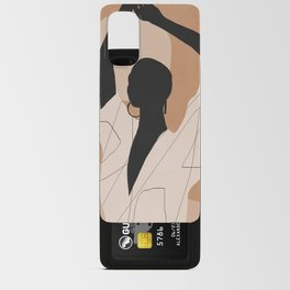 Minimal Abstract Art Sunset Girl 2 Android Card Case