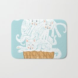 Ice cat (cream) Bath Mat