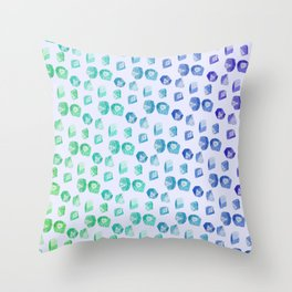 Nerd Dice Skin Throw Pillow