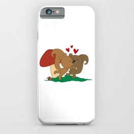 I'm Nuts About You, Cute Valentine, Funny Romantic Squirrel Gift iPhone Case