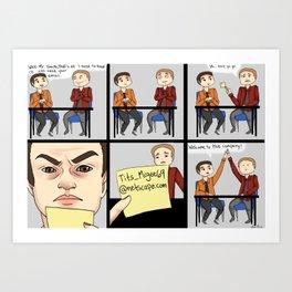 Job Interview Art Print