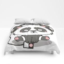 Chilling Panda Headphones Musik Cute Present Gift Comforters