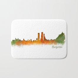 Bogota City Skyline Hq V2 Bath Mat