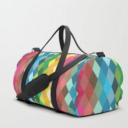 Diamond Color Spectrum Pattern Duffle Bag