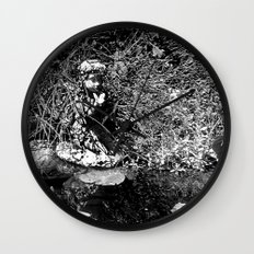 Butterfly Pond Wall Clock