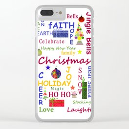 Christmas Message Clear iPhone Case