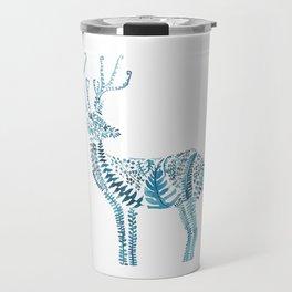 green deer watercolor Travel Mug