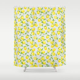 You're the Zest - Lemons on White Shower Curtain