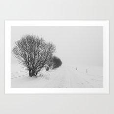 White road Art Print