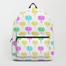 Cute and Colourful Elephant Pattern Backpack