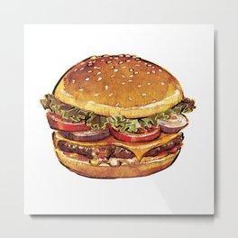 Just Burger Metal Print