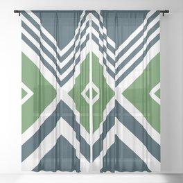 Nautical geometry 4 Sheer Curtain