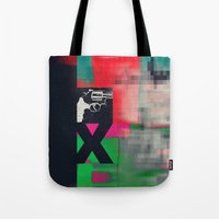 sex and the city Tote Bags featuring Sex by Alec Goss