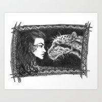 Her Ferocity  Art Print