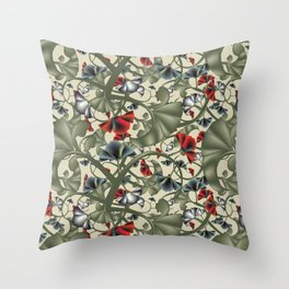 fleurs imaginaires Throw Pillow