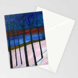 The Lonely Road, Winter Landscape by Marianne Von Werefkin Stationery Cards