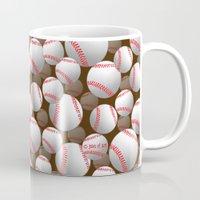 baseball Mugs featuring Baseball by joanfriends
