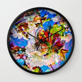 Abstract Perfection 14  Spring Wall Clock