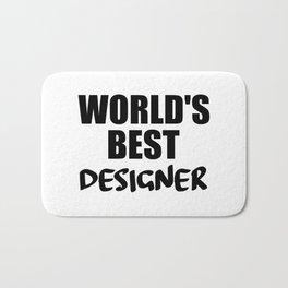 designer worlds best funny saying Bath Mat