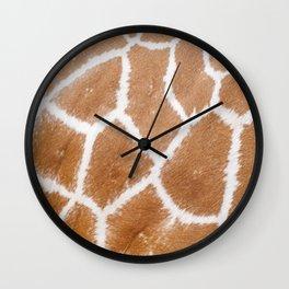 Giraffe Giraffe Zoo Safari Skin Fur Pattern Wall Clock