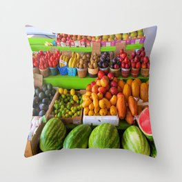Fresh from the groves Throw Pillow