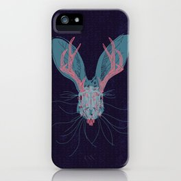 Jackelope Skull iPhone Case