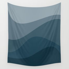 Abstract Color Waves - Blue Palette Wall Tapestry