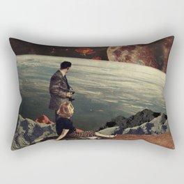 The Roses Came Rectangular Pillow