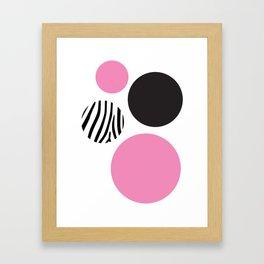Pink zebra Framed Art Print