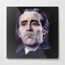 Christopher Lee as Dracula: He is the embodiment of all that is evil. Metal Print