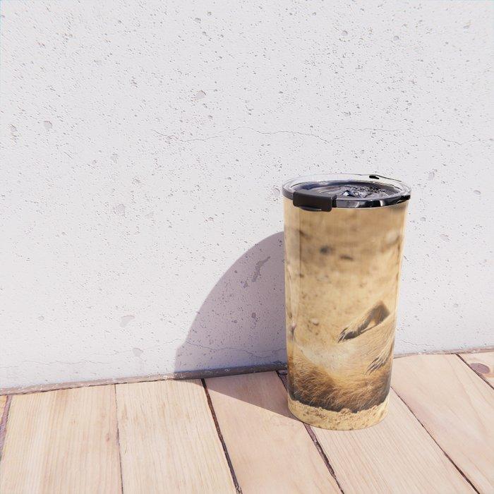 Meerkat Suricat suricatta Sunbathing #decor #society6 Travel Mug