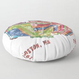 Fenway Park Baseball Stadium Floor Pillow