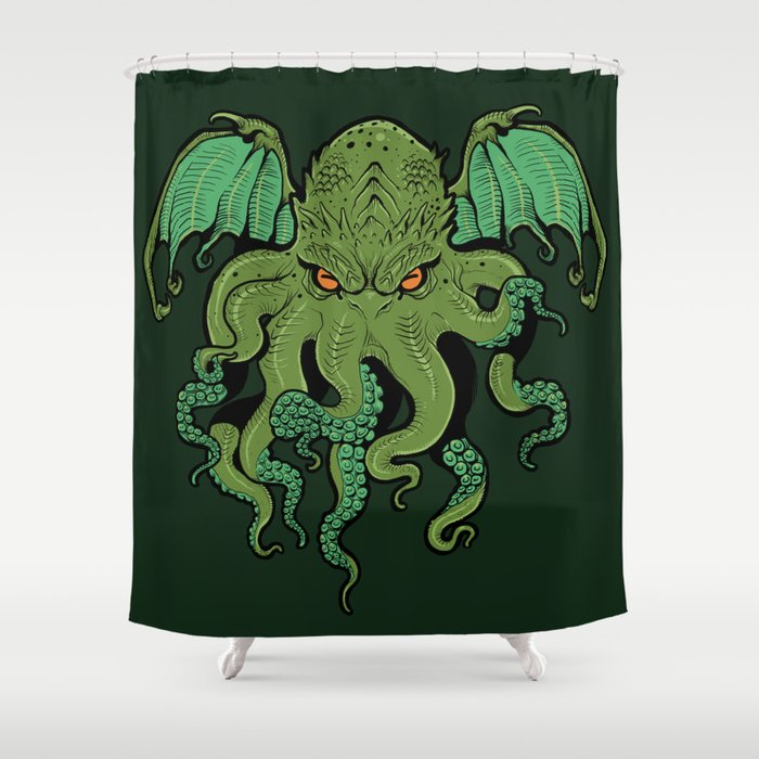 Cthulhu Shower Curtain By Missmonster