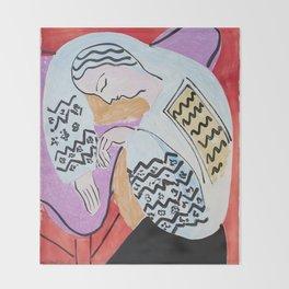 Henri Matisse - The Dream - 1940 Artwork Throw Blanket