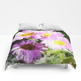 4 Pink flowers Comforters