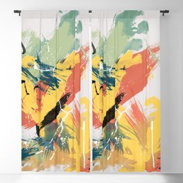Intuitive Conversations, Abstract Mid Century Colors Blackout Curtain