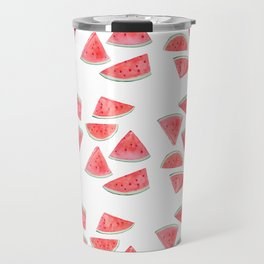 watermelon slices watercolor Travel Mug