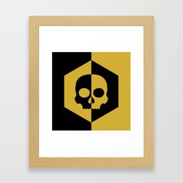 Honey Skulls Duality V2 Framed Art Print
